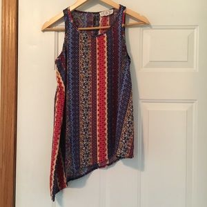 Size Small Tank Womens Blouse Patterned Blouse